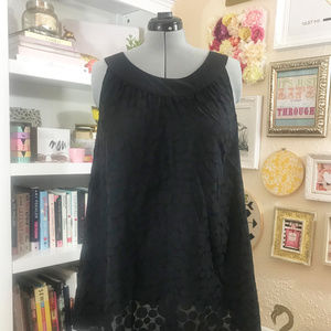 Black Swimsuit Cover Up Top